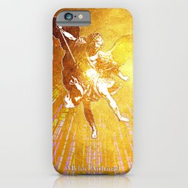 Archangel Michael in Gold iPhone Case