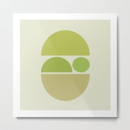 Sleeping Zen Baby - Calm Abstract - Pale Natural Greens Metal Print