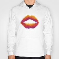 lips Hoodies featuring LIPS by LightCircle