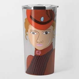 Lady in a Victorian Hat Travel Mug