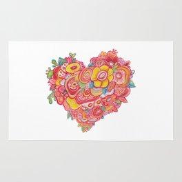 HEART FLOWER Rug