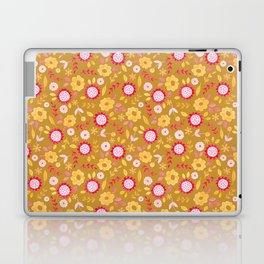 Autumn floral - mustard, ochre Laptop & iPad Skin