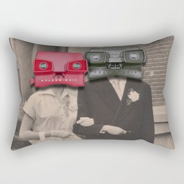 A match (viewmaster) Rectangular Pillow