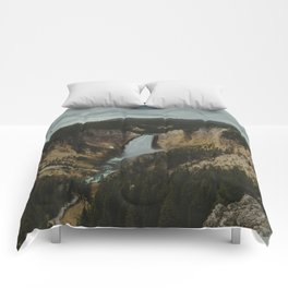 Yellowstone National Park Falls Comforters