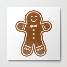 Gingerbread Hugs Metal Print