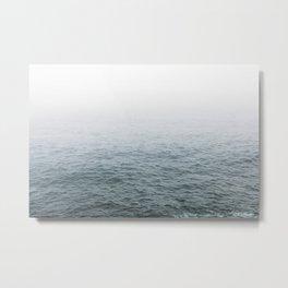 Foggy ocean blues Metal Print