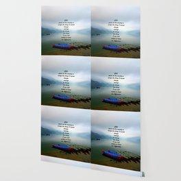 Serenity Prayer With Phewa Lake Panoramic View Wallpaper
