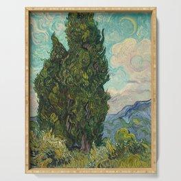 Cypresses - Van Gogh Serving Tray