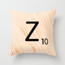Scrabble Letter Z - Scrabble Art and Apparel Throw Pillow