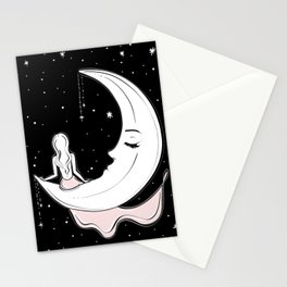 Moonlight Meditation Stationery Cards
