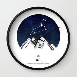 Astrology Leo Zodiac Horoscope Constellation Star Sign Watercolor Poster Wall Art Wall Clock