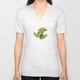 Frog on Glass Unisex V-Neck