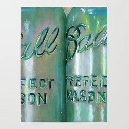 Ideal Mason Ball Jar Art Poster