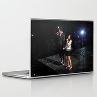 glee Laptop & iPad Skins featuring Glee Concert: Lea Michele and Chris Colfer by Jackie Lalumandier