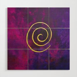 Deep Purple - Infinity Series With Gold Wood Wall Art