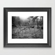 Wooden structure Framed Art Print