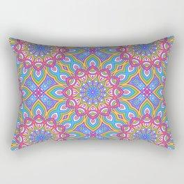 Colorful Oriental Mandala Rectangular Pillow