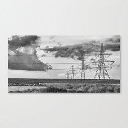 Pylon Lines Canvas Print