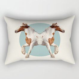 Double Animals: Horses Rectangular Pillow