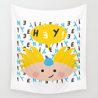 arnold Wall Tapestries featuring Hey! Arnold by Carly Watts