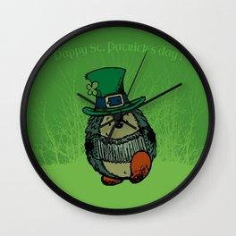 Happy st. Patrick's Day! Wall Clock