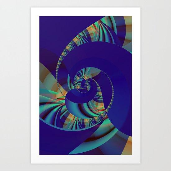 Blue Loop Art Print