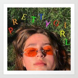 Clairo pretty girl album Art Print