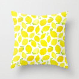 Beautiful Lemon Pattern Throw Pillow