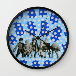 Kids With Guns Wall Clock