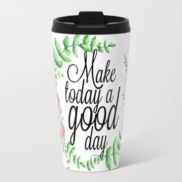 Good Day Wreath Travel Mug