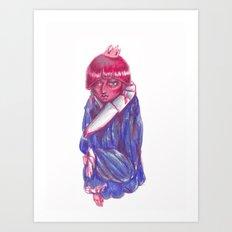 Ribbon Bon Art Print