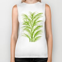 lime Biker Tanks featuring Lime Palms by Cat Coquillette