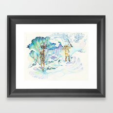 apache deer Framed Art Print
