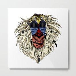 Ornate Color Rafiki Metal Print