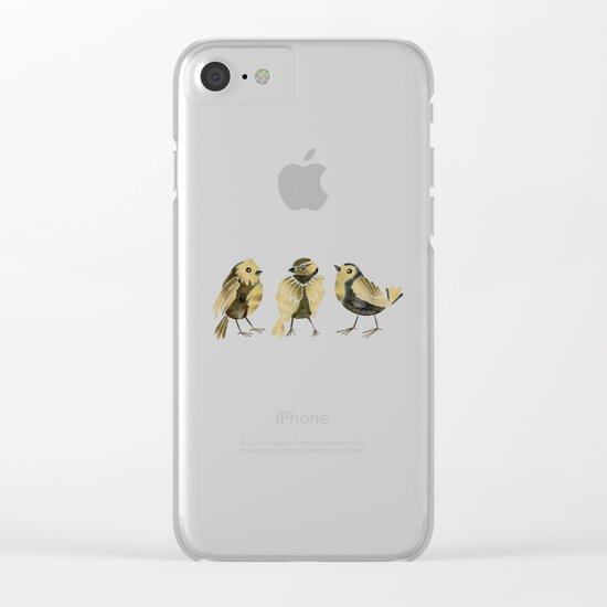 24-Karat Goldfinches Clear iPhone Case