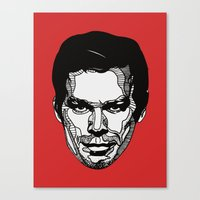 dexter Canvas Prints featuring Dexter by Dylan Morang