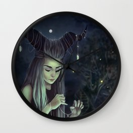 The Moon Witch Wall Clock