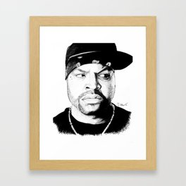 N.W.A. Series, Ice Cube Framed Art Print