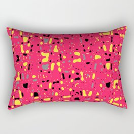 Lovely Pink with black and yellow spots, fresh abstract texture design, pattern Rectangular Pillow
