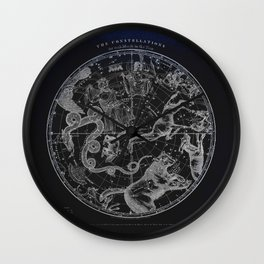 NY, Constellations Wall Clock