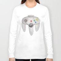 nintendo Long Sleeve T-shirts featuring Nintendo 64 by Zoë Hayman