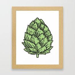 Beer Hops Framed Art Print