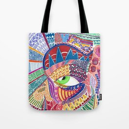Faced Tote Bag