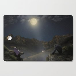 Sadness in the moonlight Cutting Board