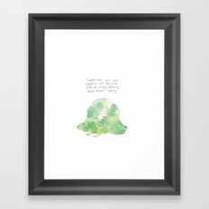 blahb Framed Art Print