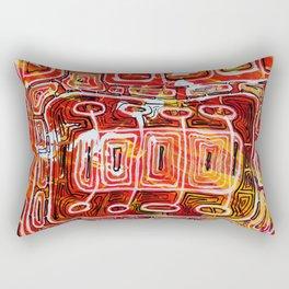 Orange Maze Rectangular Pillow