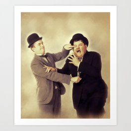Laurel and Hardy, Hollywood Legends Art Print