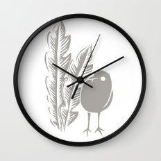 Graphic Bird Wall Clock