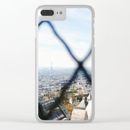 View of the Eiffel Tower from Sacré-Cœur Clear iPhone Case
