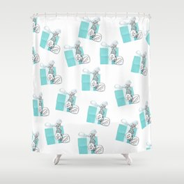 Blue Jewelry Box Shower Curtain